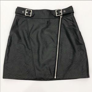 Topshop Faux Leather High-Waisted Mini Skirt ❤️